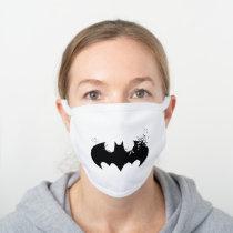 Classic Batman Logo Dissolving Into Bats White Cotton Face Mask