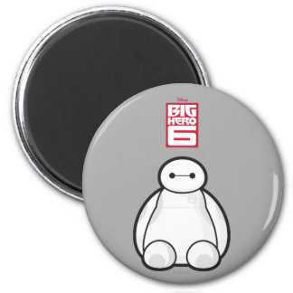 Classic Baymax Sitting Graphic 2 Inch Round Magnet