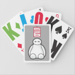 "Classic Baymax Sitting Graphic Bicycle Playing Cards<br><div class=""desc"">Bring home Baymax from Big Hero 6 in this classic Baymax sitting image with an outline of Baymax&#39;s face. In the fictional town of San Fransokyo, Baymax and his super hero friends battle villians using advanced technology. With His rocket fist, rocket thrusters, and strong robotic suit, he will in any...</div>"