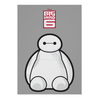 Classic Baymax Sitting Graphic Posters