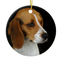 Classic Beagle Ceramic Ornament