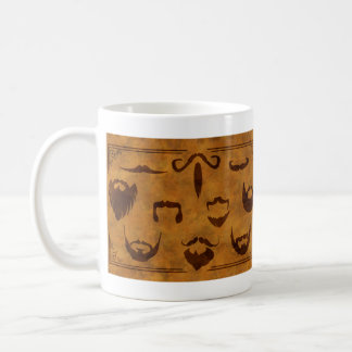 Classic Beards and Mustaches - Double side print Coffee Mug