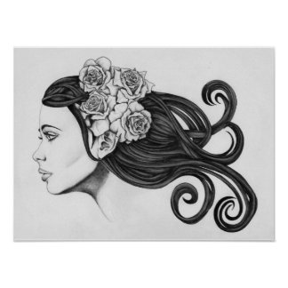 Classic Beauty Black & White Poster