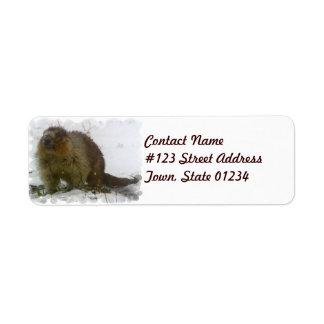 Classic Beaver Mailing Label