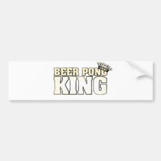 Classic Beer Pong King Car Bumper Sticker