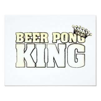 Classic Beer Pong King Card