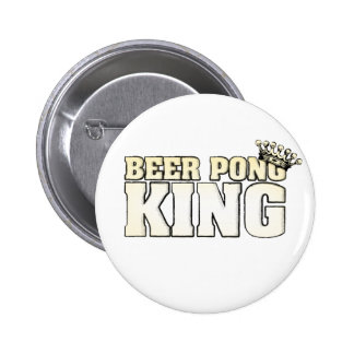 Classic Beer Pong King Pinback Button