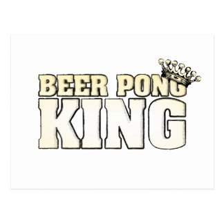 Classic Beer Pong King Postcard