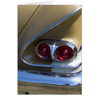 classic belair taillights with gold and chrome stationery note card