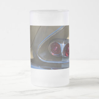 classic belair taillights with gold and chrome frosted glass beer mug