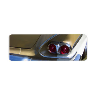 classic belair taillights with gold and chrome return address label