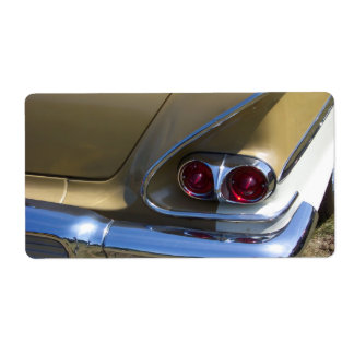 classic belair taillights with gold and chrome shipping label