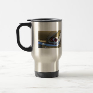 classic belair taillights with gold and chrome travel mug