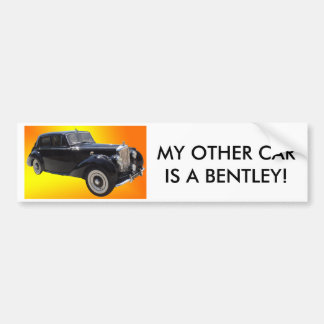 Classic Bentley bumpersticker Bumper Sticker