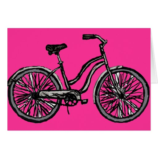 Line Drawing Bicycle : Classic bicycle line drawing greeting cards zazzle