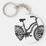 Classic Bicycle, Line Drawing Products Key Chain