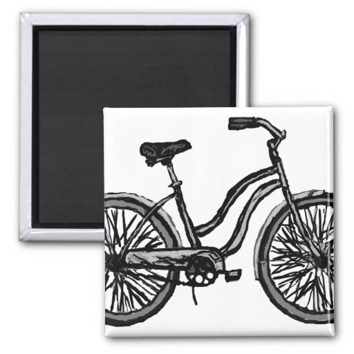 Classic Bicycle, Line Drawing Products Magnet