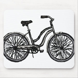 Classic Bicycle, Line Drawing Products Mouse Pad