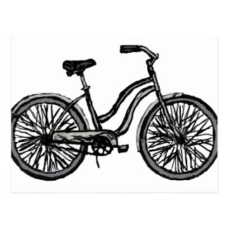 Classic Bicycle, Line Drawing Products Post Card