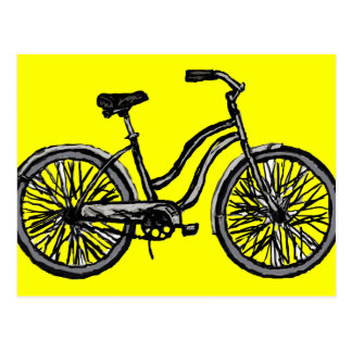 Classic Bicycle, Line Drawing Products Postcards