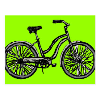 Classic Bicycle, Line Drawing Products Postcard