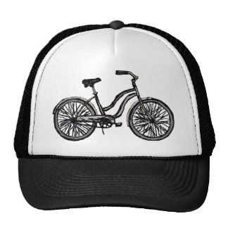 Classic Bicycle, Line Drawing Trucker Hat