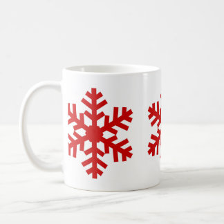 Classic Big Red Snowflake Winter Christmas Holiday Coffee Mug