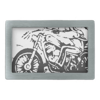 Classic Biker On Chopper Belt Buckle