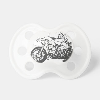Classic Biker On Chopper Pacifier