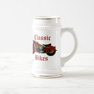 Classic Bikes cool beer mug design