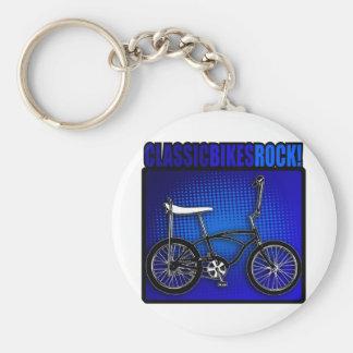 Classic Bikes Rock! Keychain
