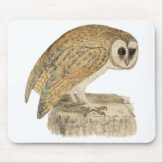 Classic Bird Etching - Owl Mouse Pad