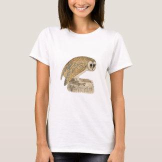 Classic Bird Etching - Owl T-Shirt