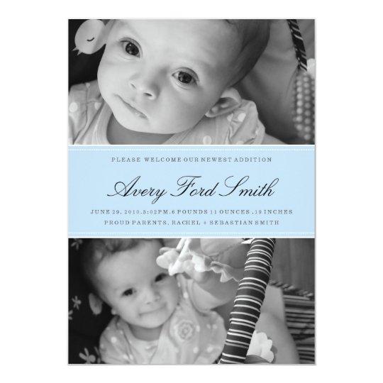 CLASSIC BIRTH ANNOUNCEMENT