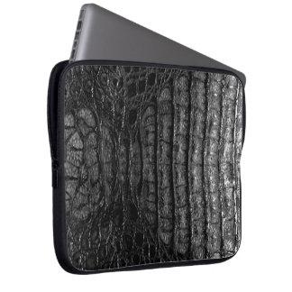 Classic Black Alligator Skin #2 Laptop Sleeve