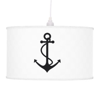 Classic Black Anchor Hanging Lamp