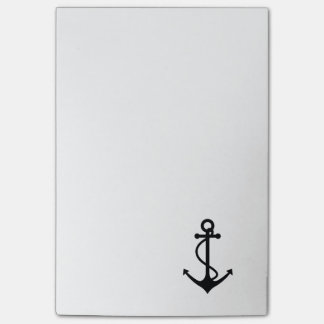 Classic Black Anchor Post-it Notes