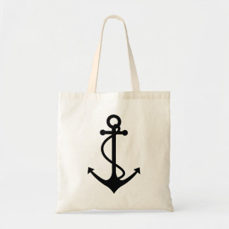 Classic Black Anchor Tote Bag