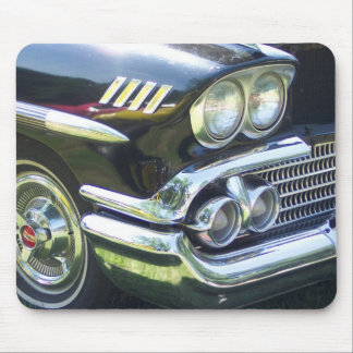 classic black and chrome vintage car pic mouse pad
