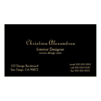 Classic Black and Gold Damask Business Card