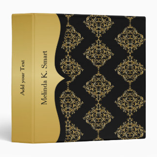 Classic Black and Gold Design Binder