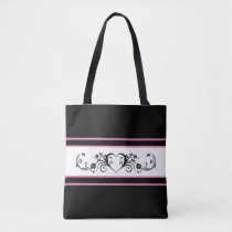 Classic Black and Pink Tote Bag