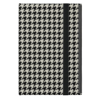 Classic Black and Tan Houndstooth iPad Mini Cover