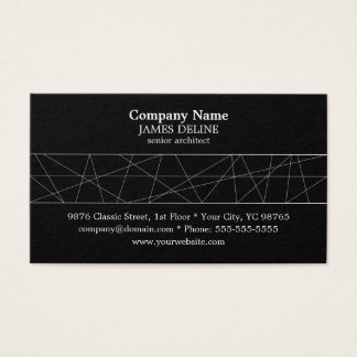 Classic Black and White Architect Business Card