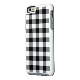 Classic Black and White Checked Plaid OtterBox iPhone 6/6s Plus Case