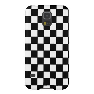 Classic Black and White Checkered Pattern Case For Galaxy S5