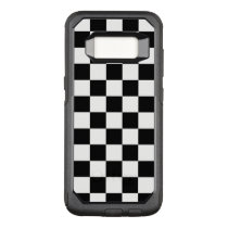 Classic Black and White Checkered Pattern OtterBox Commuter Samsung Galaxy S8 Case