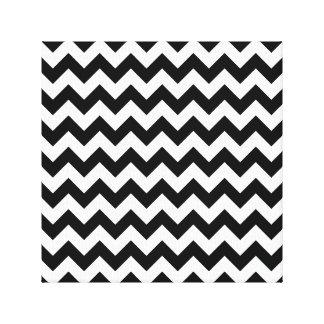 Classic Black and White Chevron Canvas Print
