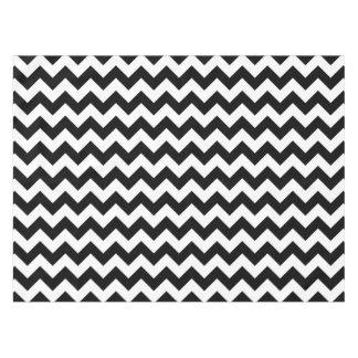 Classic Black And White Chevron Tablecloth