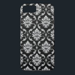 "Classic Black and White Floral Damask Pattern iPhone 8/7 Case<br><div class=""desc"">Black and White Vintage Damask Pattern. Damask Gallery&#169; A stylish,  chic,  floral damask in fashionable black. Perfect gift for her. You can keep as is or customize it and create your own. More styles and colors available in our shop at www.zazzle.com/DamaskGallery</div>"